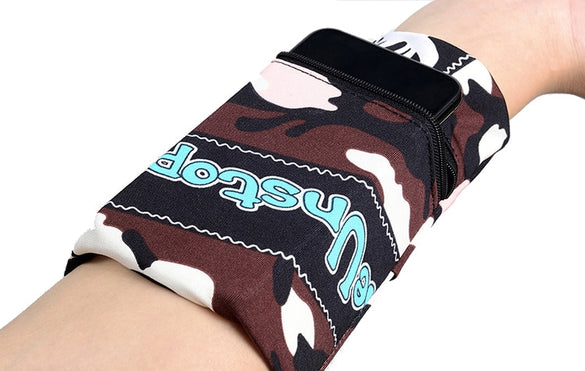 Sport Armband Running Bag Gym Cycling Wristband Badminton Tennis Sweatband Wrist Support Pocket Wrist Wallet Pouch Arm Bag