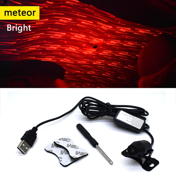 CNSUNNYLIGHT Mini USB LED Car Roof Atmosphere Star Night Lights Decoration Galaxy Lamp Projector Light Interior Ambient Lamps
