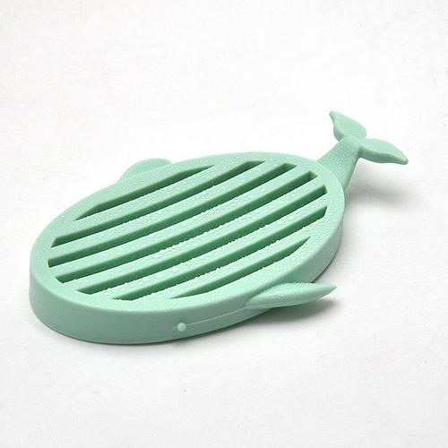 Simple Style Bathroom Accessories Whale Type Drain Soap Box Simple Soap Holder Whale Type Drain Soap Box Travel Camping