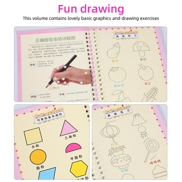 Hard Cover Magic Practice Writing Paste Painting Sketch Book Sketch Drawing Book Professional Notebook Hand-Painted