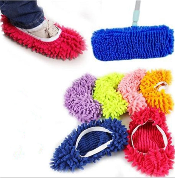1 Piece Microfiber Mop Floor Cleaning Lazy Fuzzy Slippers House Home Flooring Tools Shoes Bathroom Kitchen Cleaner