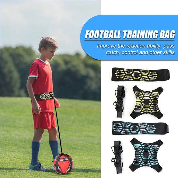 Kids Soccer Trainer Sports Football Kick Throw Solo Practice Aid Assistance Waist Belt Control Skills Training Band Adjustable