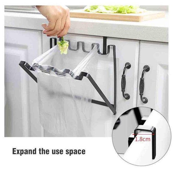 Hanging Kitchen Cabinet Door Trash Rack Towel Storage Garbage Rag Bags Holder