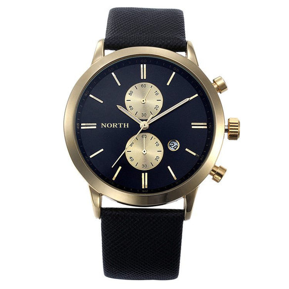 Black And Gold Men's Date And Time Sport Watch