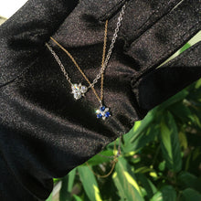Load image into Gallery viewer, Sapphire Starburst Necklace