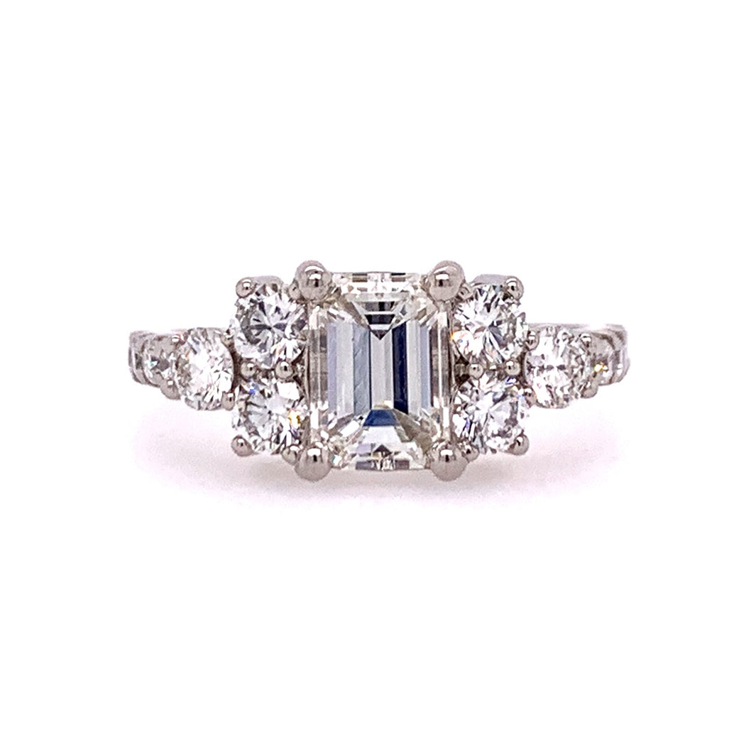 Radiant Engagement Ring