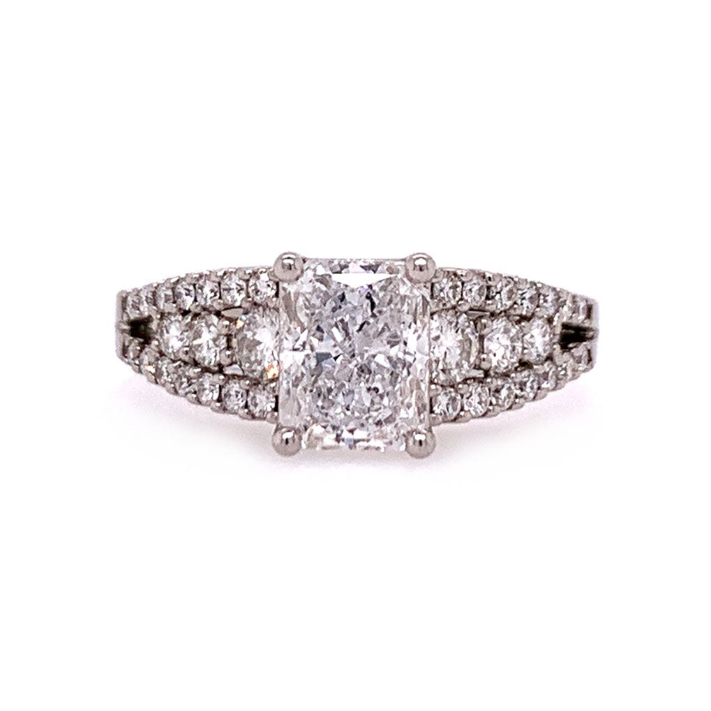 Diamond Triangle Engagement Ring
