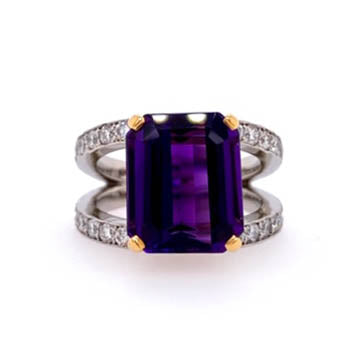 Amethyst Ring Bead Set