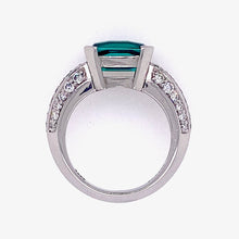 Load image into Gallery viewer, Tourmaline & Pave Ring