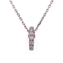 Load image into Gallery viewer, Half Moon Diamond Bar Pendant