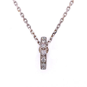 Half Moon Diamond Bar Pendant