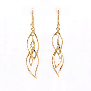 18ky Twist Dangles Earrings