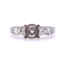 Load image into Gallery viewer, Lady's Pt 5 Stone Heart Style Engagement Ring