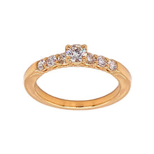 Load image into Gallery viewer, 18ky 7 Diamond Engagement Ring
