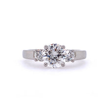 Load image into Gallery viewer, 3 Stone Diamond Engagement Ring