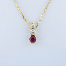 Load image into Gallery viewer, Ruby Drop Necklace