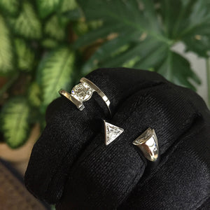 Bypass Half Moon & Triangle Band Ring