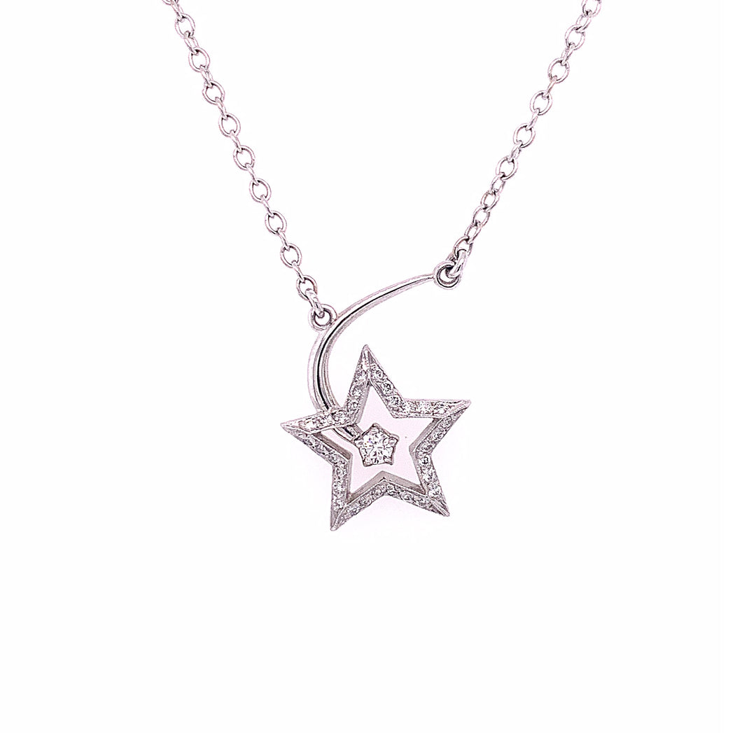 Star Pendant with Diamonds