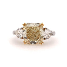 Load image into Gallery viewer, Yellow Cushion Center Engagement Ring