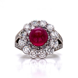 Branchaud Style Ruby Cocktail Ring