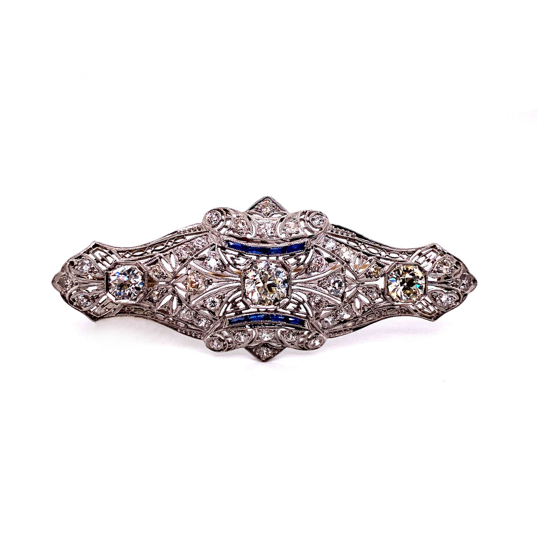 Circa -1890's Open Work Milgrain Brooch