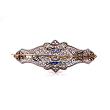 Load image into Gallery viewer, Circa -1890's Open Work Milgrain Brooch