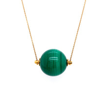 Load image into Gallery viewer, Green Stone Necklace