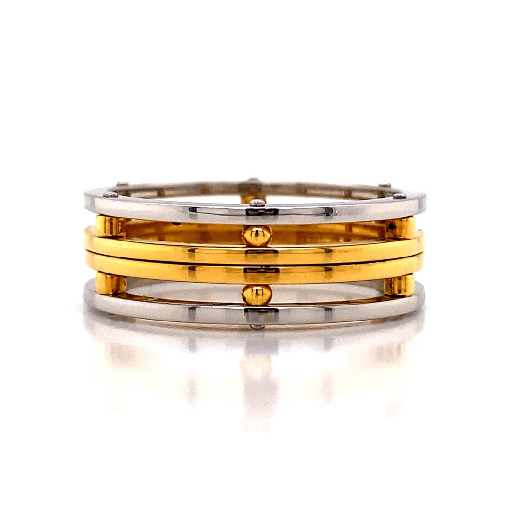 Two Tone Stacked Ring