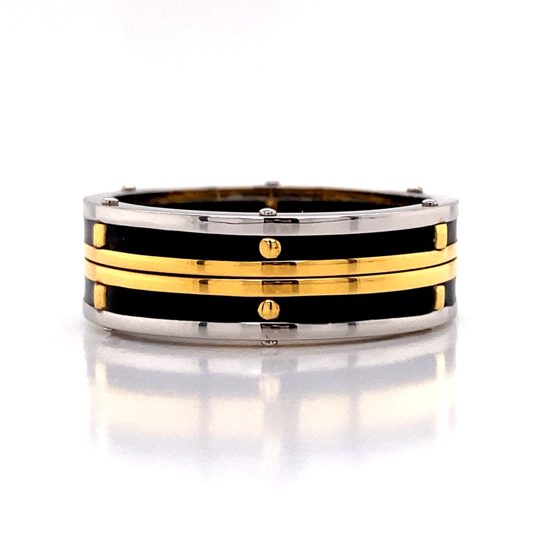 Stacked Two Tone Black Band