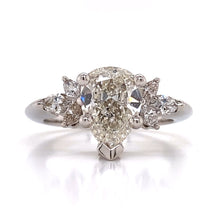 Load image into Gallery viewer, Diamond Tear Drop Engagement Ring