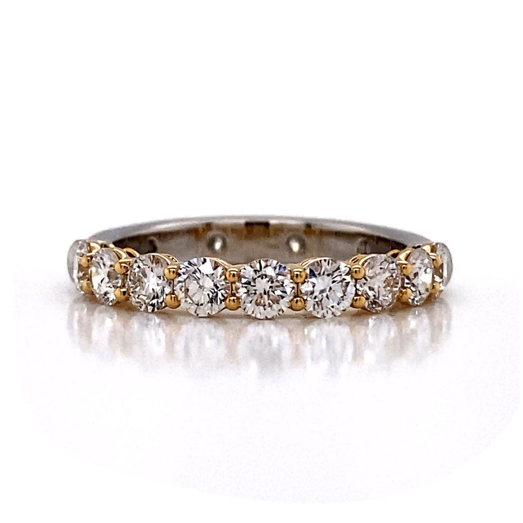 Two Tone Eternity Band