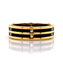 Load image into Gallery viewer, Gent's Gold & Black Band