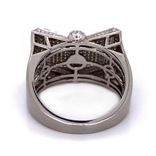 Load image into Gallery viewer, Men's Pt. Diamond Cocktail Ring