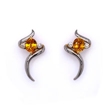 Load image into Gallery viewer, Yellow Sapphire Earrings