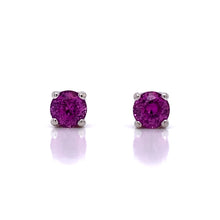 Load image into Gallery viewer, Pink Sapphire Ribbon Earrings