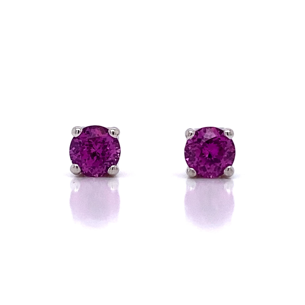 Pink Sapphire Ribbon Earrings