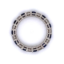 Load image into Gallery viewer, Diamond and Sapphire Eternity Band
