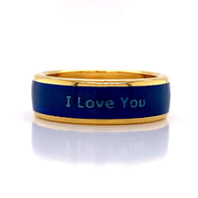 "Load image into Gallery viewer, 18Kt Colorit Blue ""I Love You"""
