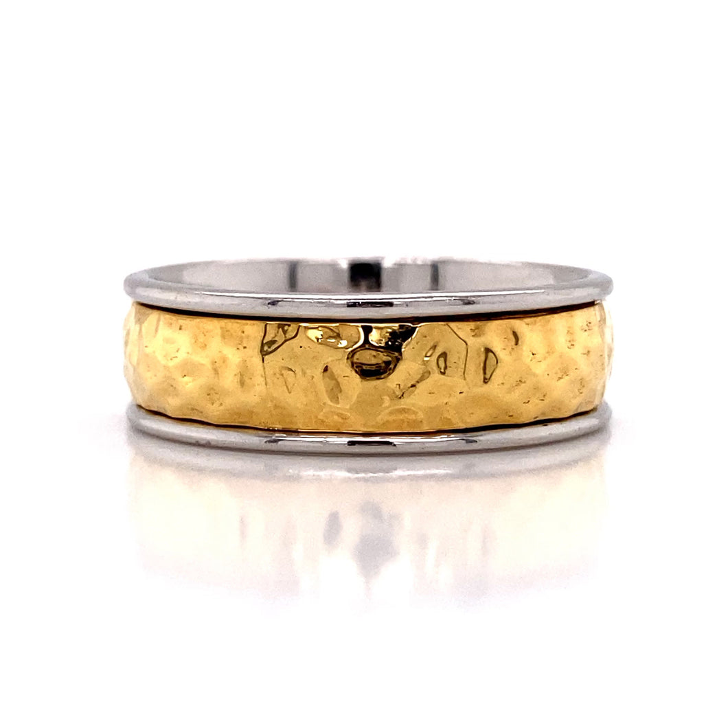 Wedding Band Hammer Ring