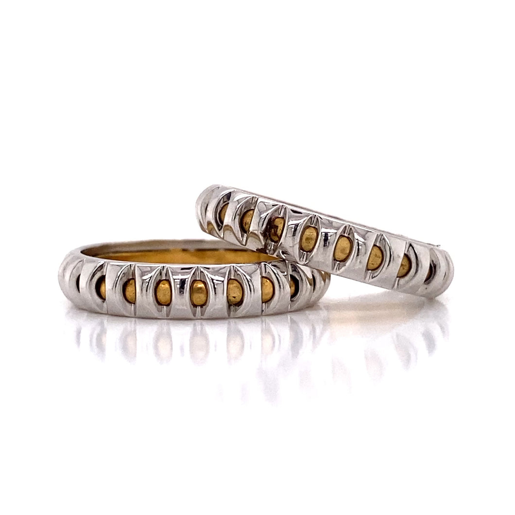 Thin Two Tone Eternity Unisex Band