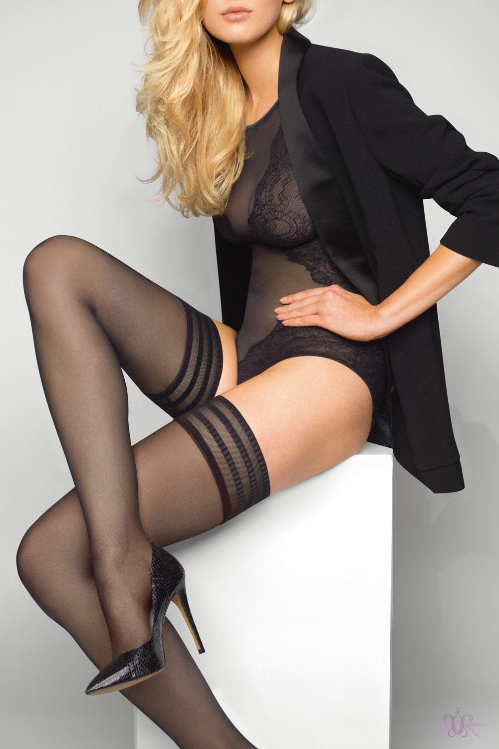 Le Bourget Satine 20D Hold Ups - The Hosiery Box