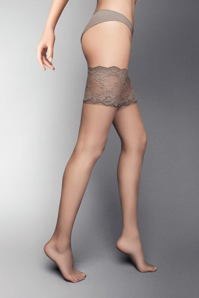 Veneziana Desiderio Lace Top Hold Ups - The Hosiery Box