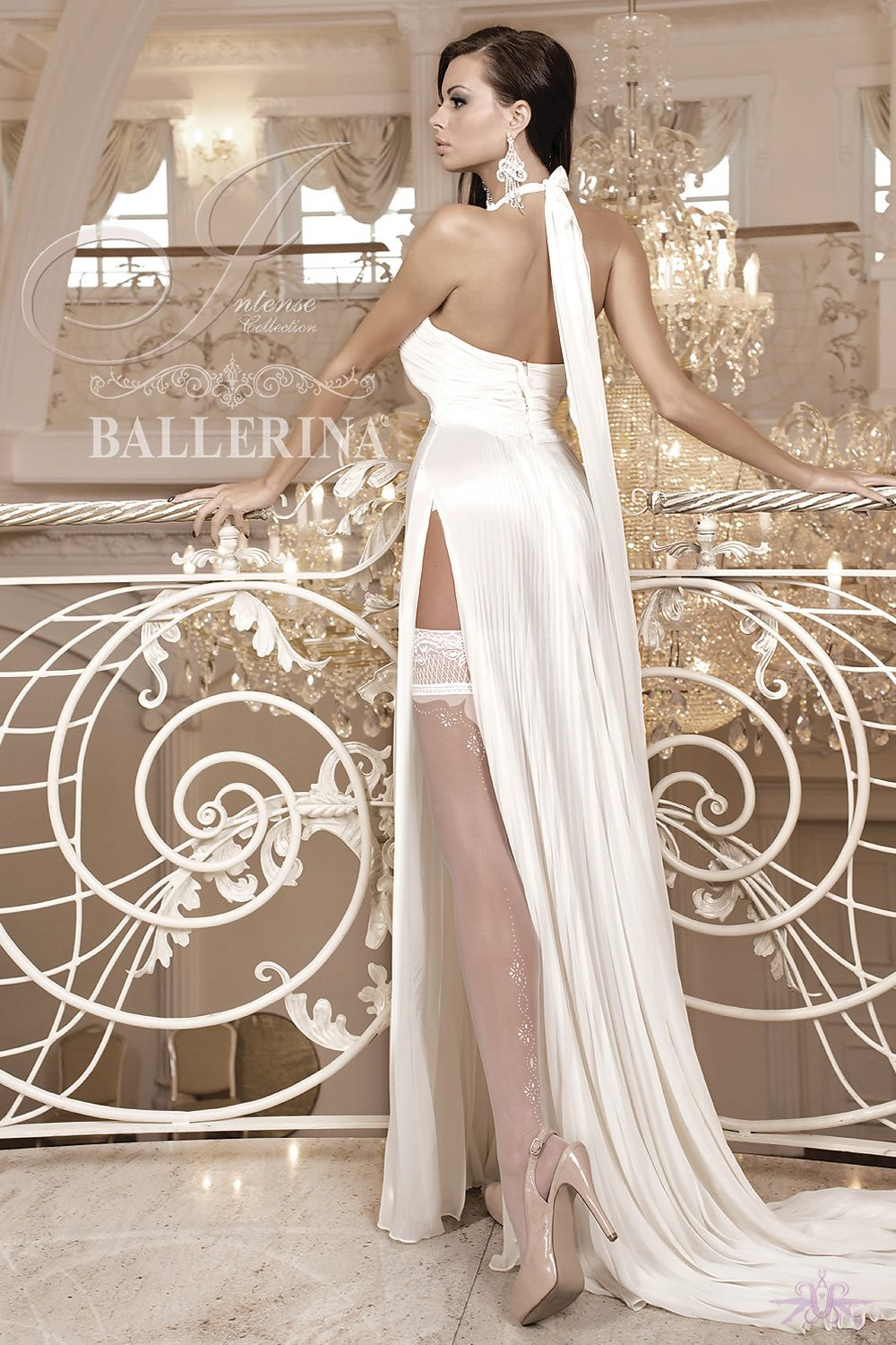 Ballerina Back Seam Bridal Hold Ups - The Hosiery Box