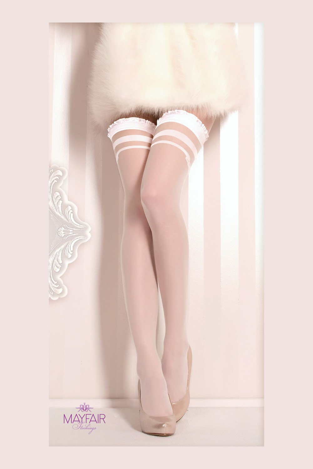 Ballerina Bridal Seamed Hold Ups - The Hosiery Box