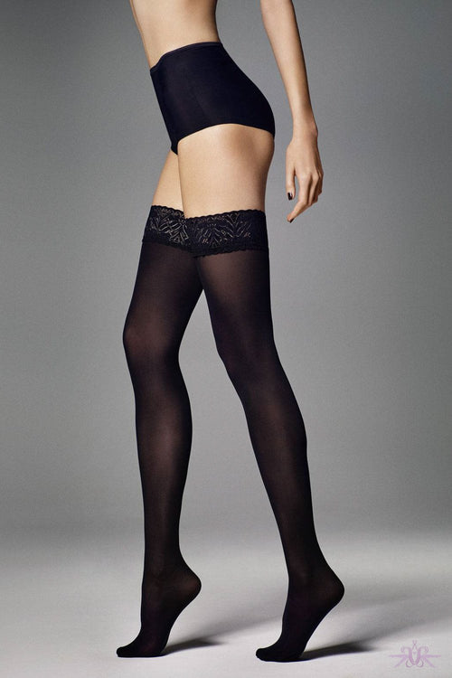 Veneziana Fiona 60 Opaque Hold Ups - Mayfair Stockings