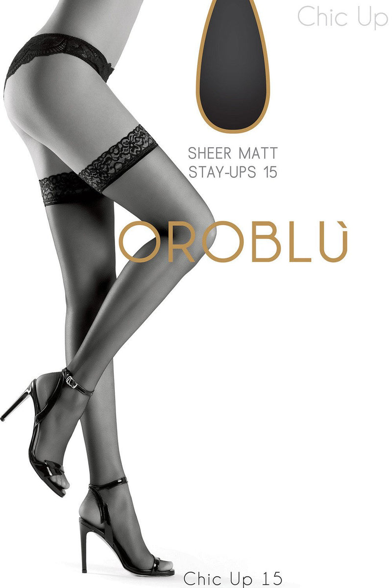 Oroblu Chic Up 15 Hold Ups - The Hosiery Box
