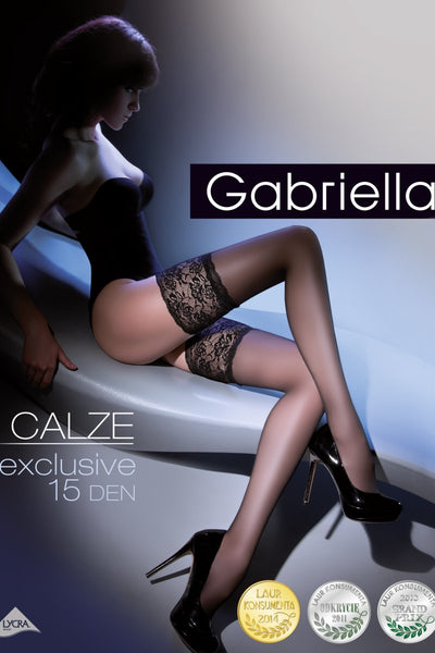 Gabriella Exclusive 15 Deep Lace Hold Ups - The Hosiery Box