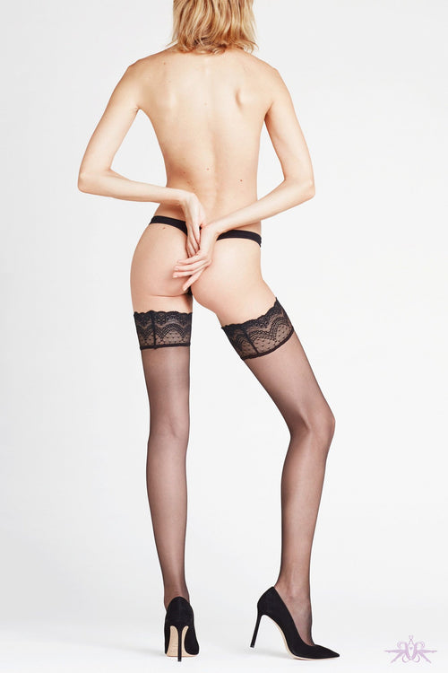 Falke Invisible Deluxe 8 Denier Hold Ups - The Hosiery Box