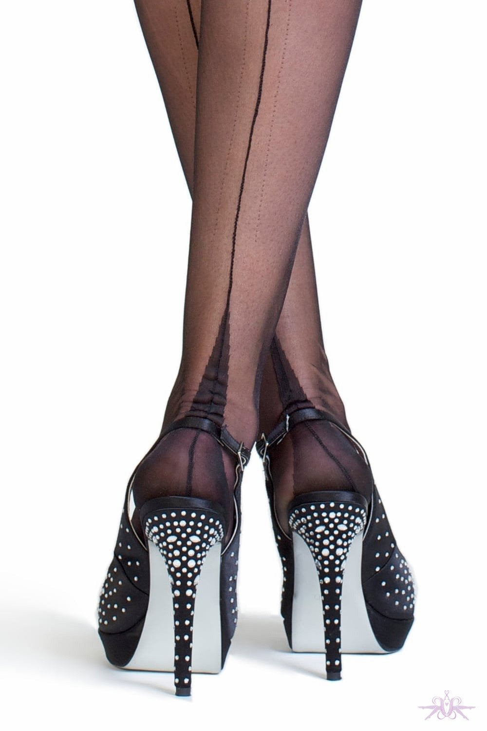 Gio Point Heel Fully Fashioned Stockings - The Hosiery Box