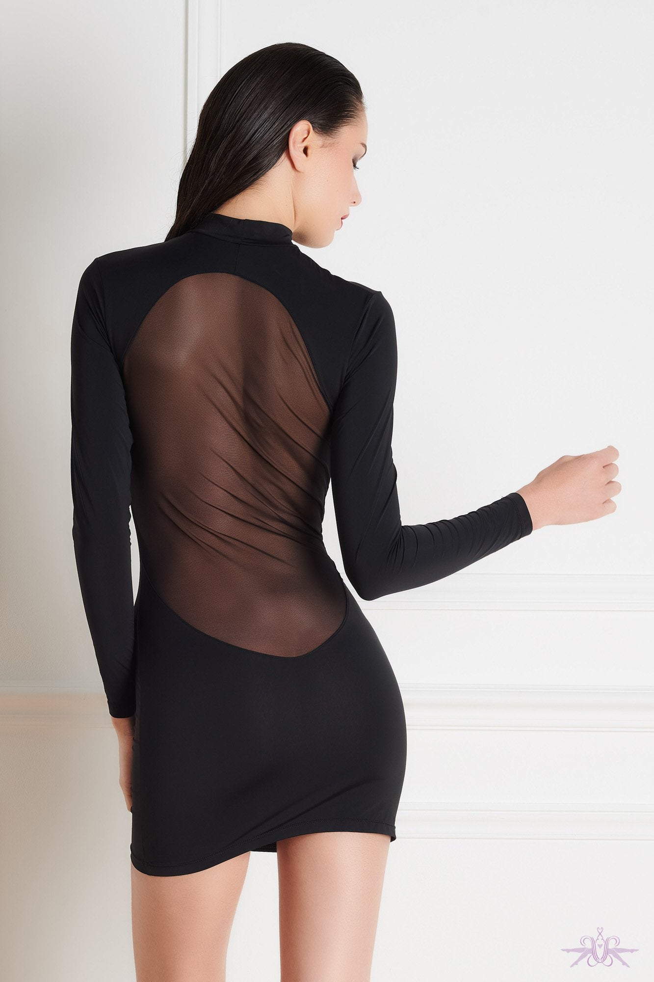 Maison Close Pure Tentation Long Sleeved Dress - The Hosiery Box